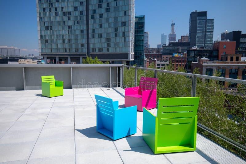 Dachu widok Whitney muzeum sztuki w Miasto Nowy Jork fotografia stock