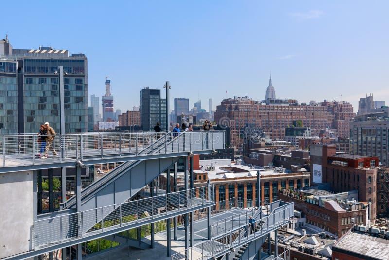Dachu widok Whitney muzeum sztuki w Miasto Nowy Jork zdjęcie royalty free