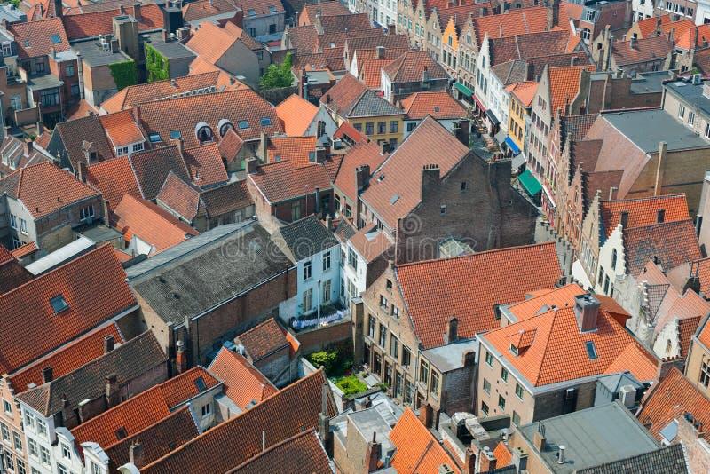 Dachy Bruges, Belgia. zdjęcia royalty free