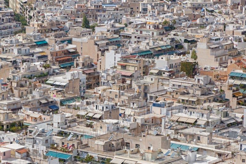 Dachy budynki w Ateny zdjęcie stock