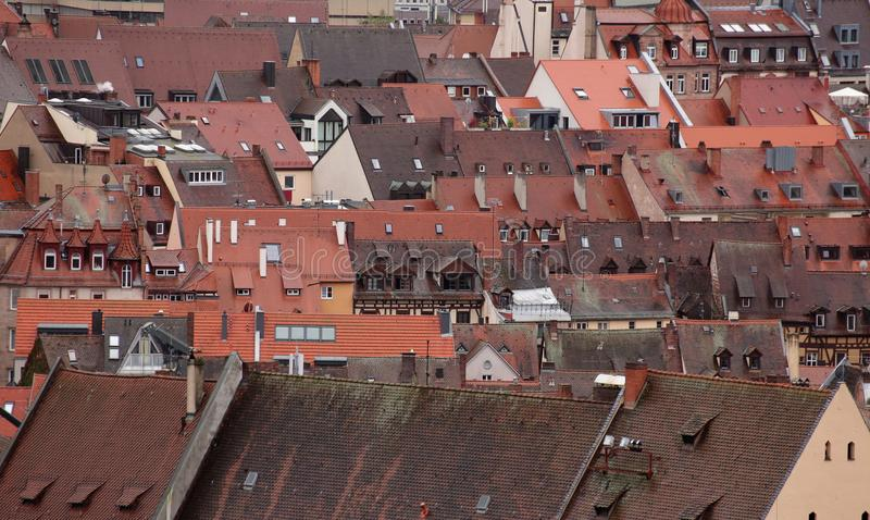 Dachy historyczny centrum miasta Nuremberg obrazy stock