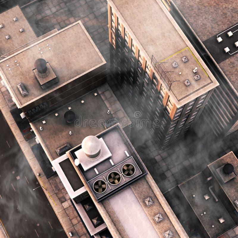 dachy miastowi royalty ilustracja