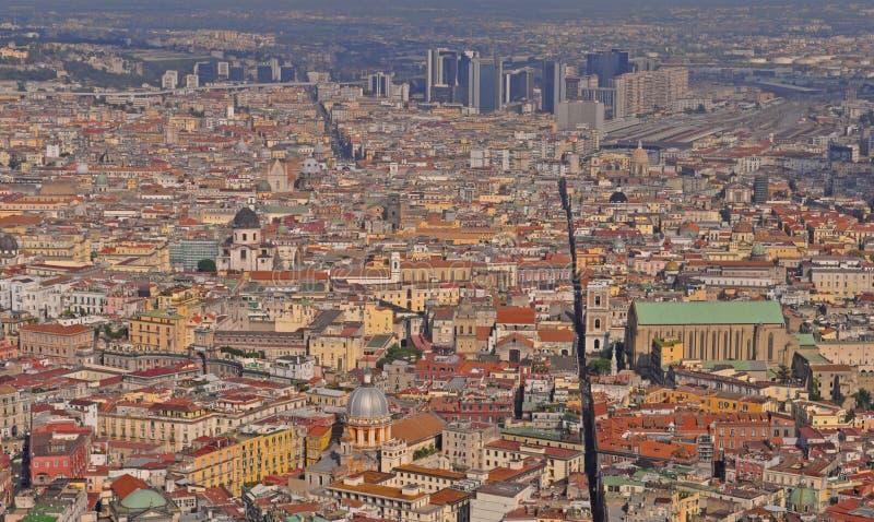 Dachy Naples stary miasteczko, W?ochy fotografia royalty free