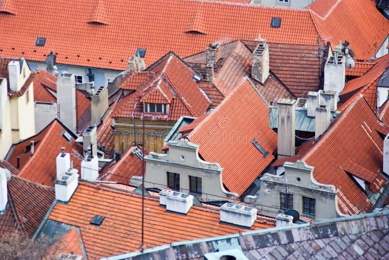 dachy prague cesky krumlov republiki czech miasta średniowieczny stary widok zdjęcie stock