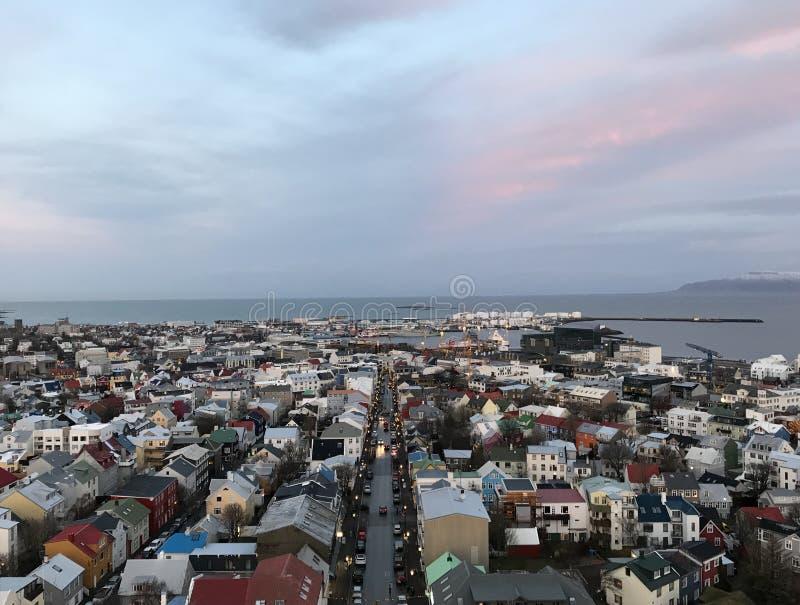 Dachy Reykjavik zdjęcie royalty free
