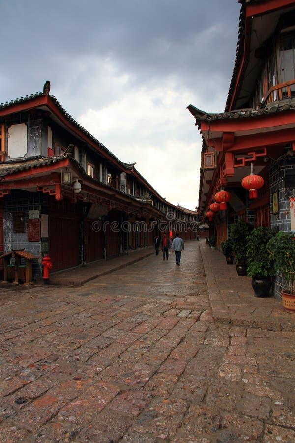 Dachy stary lijiang miasteczko, Yunnan, porcelana obraz royalty free