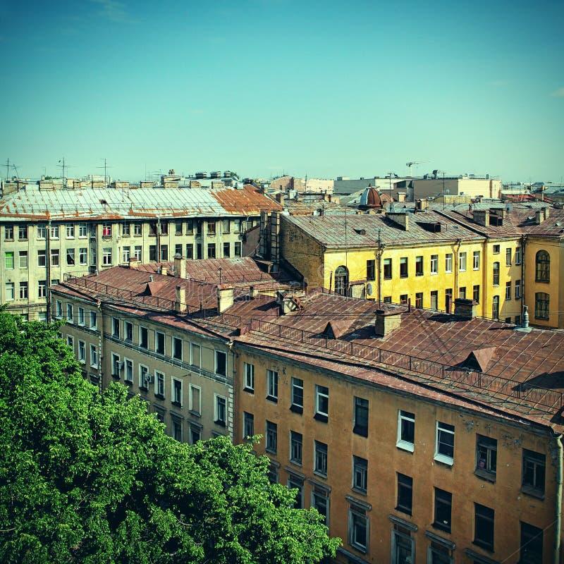 Dachy Stary miasto fotografia stock