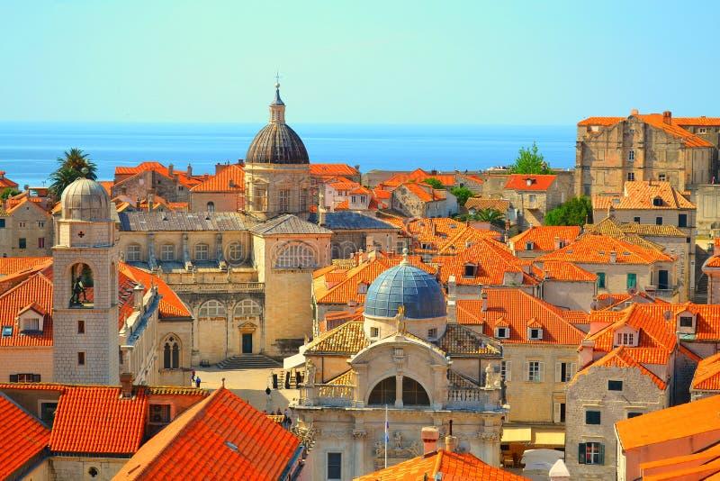 Dachy w Dubrovnik, Chorwacja obrazy stock