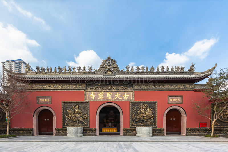 Daci świątynni w Chengdu, Chiny obraz royalty free
