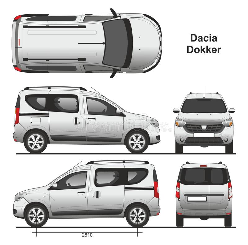 dacia dokker passenger van 2013 photographie ditorial illustration du vecteur transport. Black Bedroom Furniture Sets. Home Design Ideas