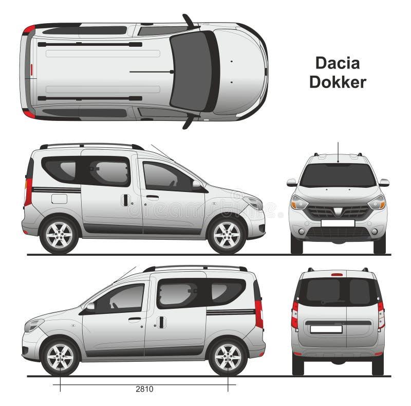 Dacia Dokker Passenger Van 2013 vector illustration