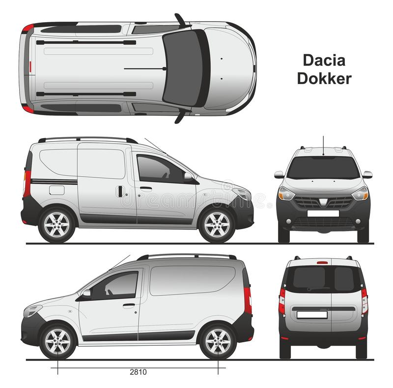 dacia dokker van 2013 redactionele foto illustratie bestaande uit vector 87257906. Black Bedroom Furniture Sets. Home Design Ideas