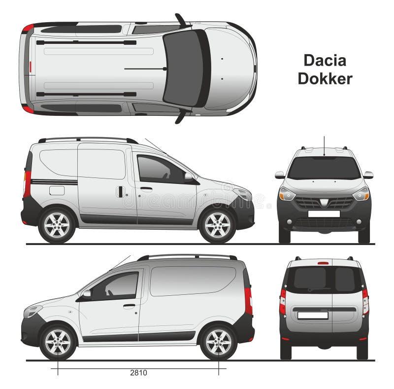 dacia dokker van 2013 editorial photo illustration of transportation 87257906. Black Bedroom Furniture Sets. Home Design Ideas