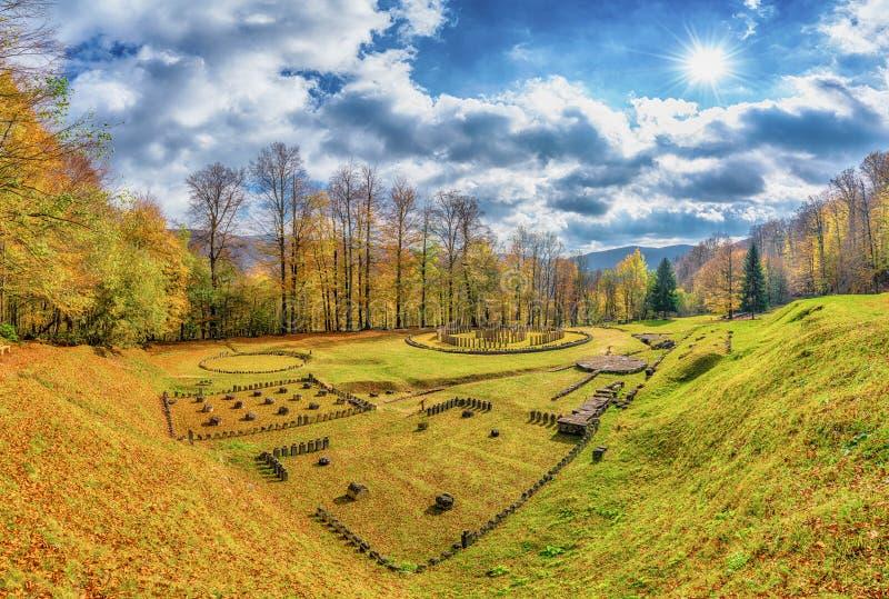 Dacian ruins Fortress Sarmizegetusa Regia, Orastie Mountains, Romania. Dacian ruins Fortress of Sarmizegetusa Regia, Orastie Mountains, Romania stock photography