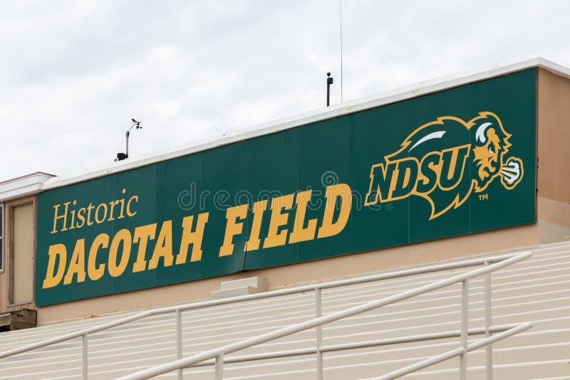 Dacotah fält på den North Dakota delstatsuniversitetet arkivfoto