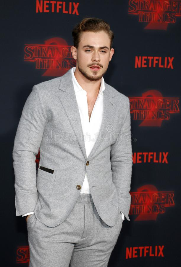 Dacre Montgomery. At the Netflix`s season 2 premiere of `Stranger Things` held at the Regency Village Theatre in Westwood, USA on October 26, 2017 stock photos