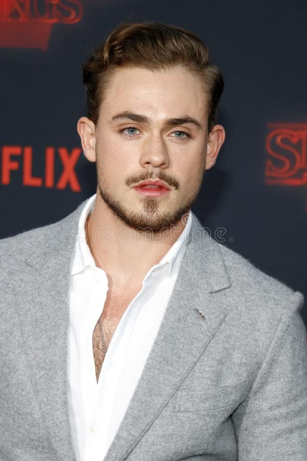 Dacre Montgomery. At the Netflix`s season 2 premiere of `Stranger Things` held at the Regency Village Theatre in Westwood, USA on October 26, 2017 stock image
