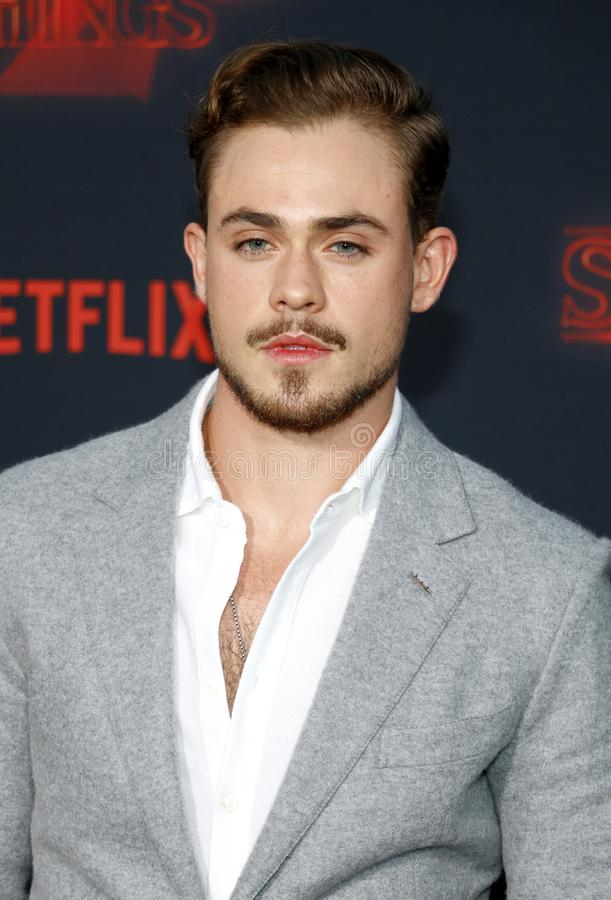 Dacre Montgomery. At the Netflix`s season 2 premiere of `Stranger Things` held at the Regency Village Theatre in Westwood, USA on October 26, 2017 royalty free stock photo