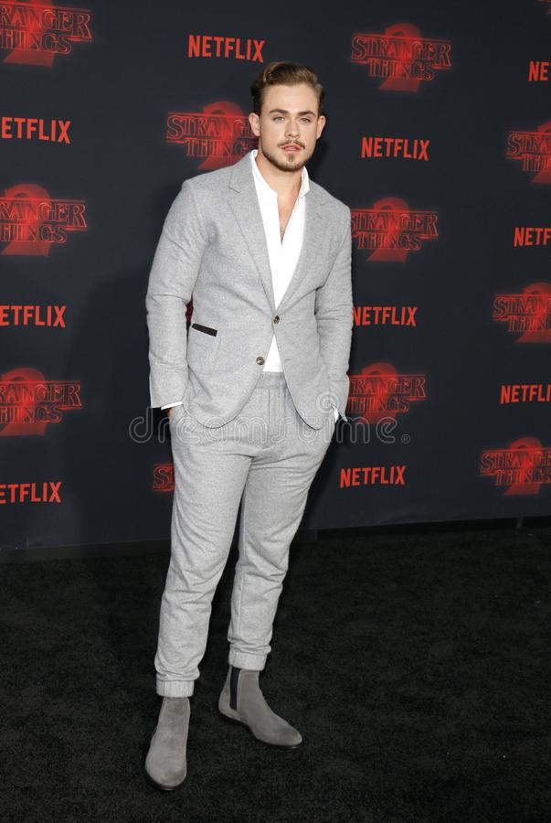 Dacre Montgomery. At the Netflix`s season 2 premiere of `Stranger Things` held at the Regency Village Theatre in Westwood, USA on October 26, 2017 royalty free stock image