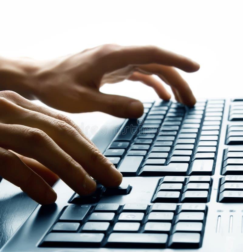 Dactilografia no teclado