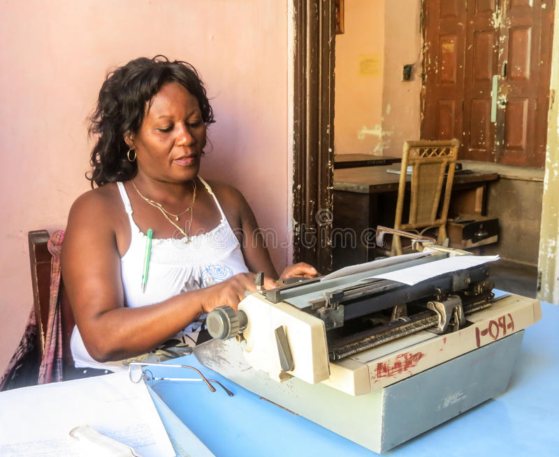 Dactylo cubain image libre de droits