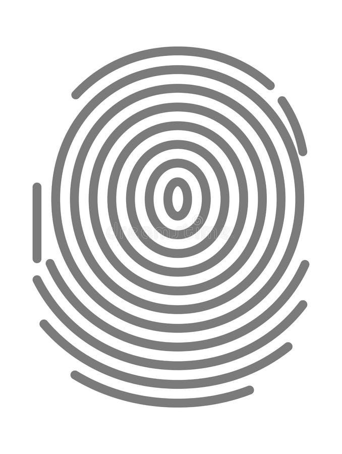黑dactylogram,文件的人员标识标记,个人特性标志 皇族释放例证