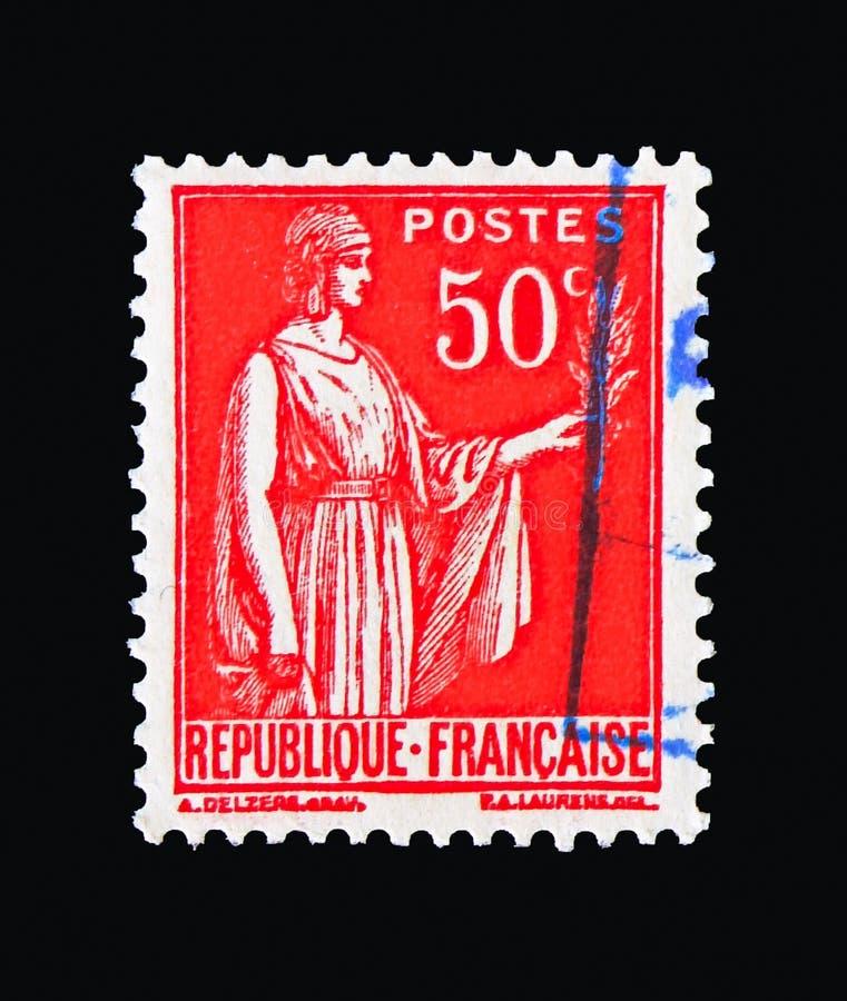 Dactylographiez le type I, serie de paix d'allégorie de paix, vers 1933 photo stock