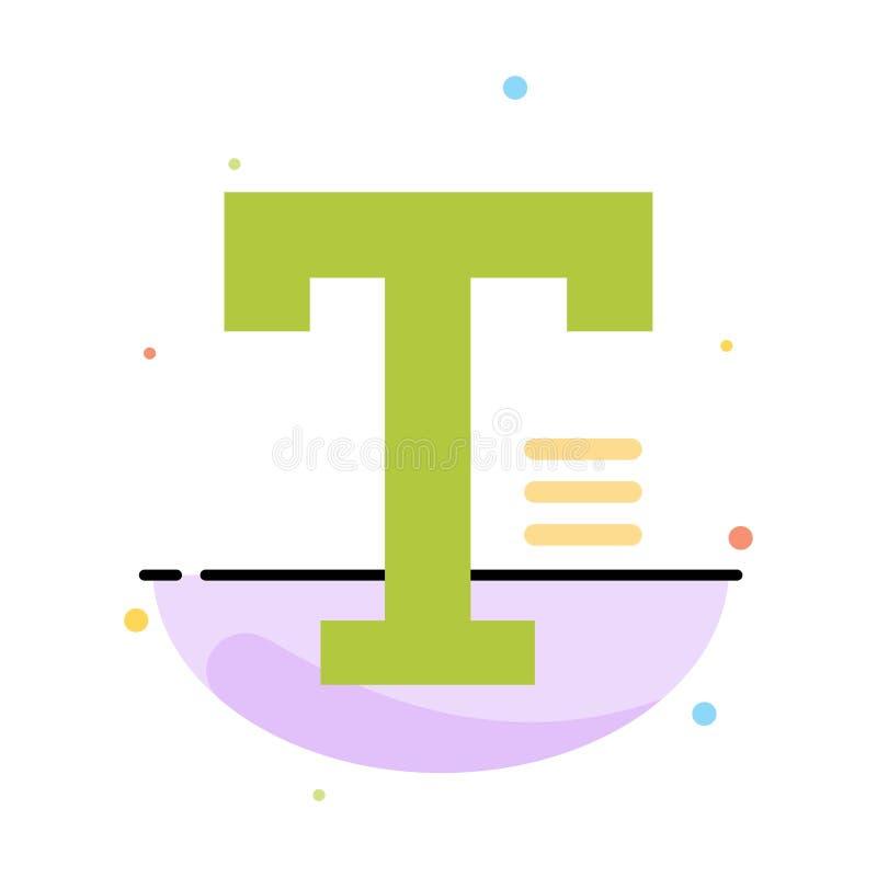 Dactylographiez, textotez, écrivez, exprimez le calibre plat abstrait d'icône de couleur illustration stock