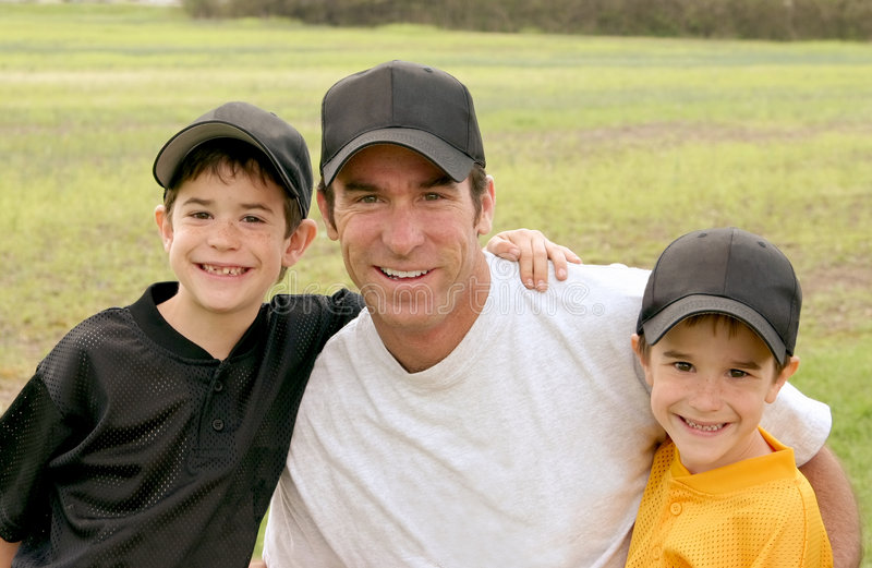 Download Dad and Boys stock image. Image of friendship, cheerful - 4081103
