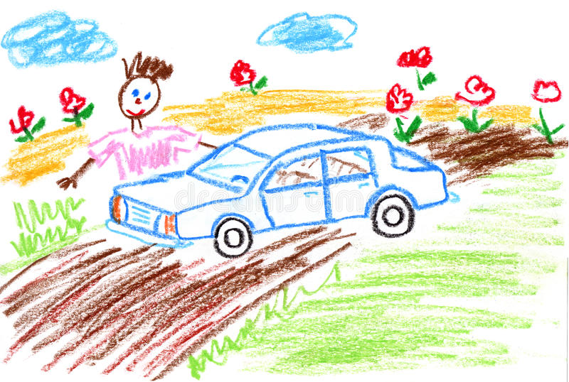 Download Dad and car stock illustration. Illustration of painting - 22060563