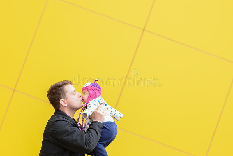 Download Dad And Daughter With A Big Kiss Stock Photo - Image: 83717440