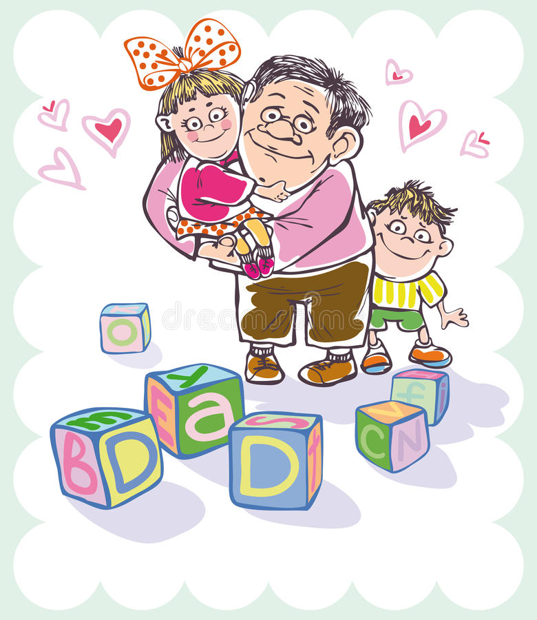 Download Dad and daughter and son stock vector. Image of parent - 20098109
