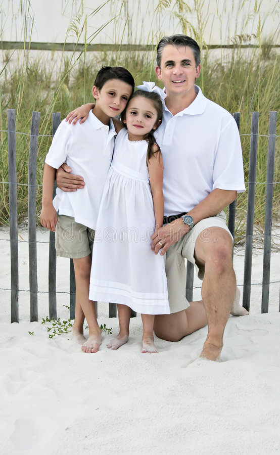 Download Dad with Daughter and Son stock image. Image of beach - 6470691
