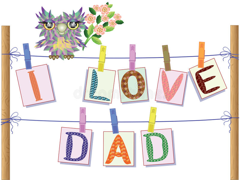 Download Dad day stock vector. Image of affection, cute, graphic - 19542023