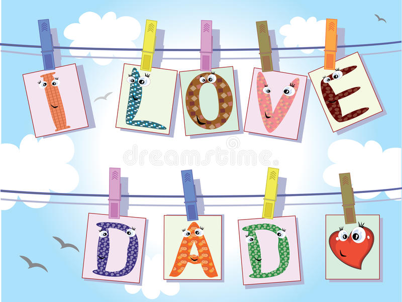 Download Dad day stock vector. Illustration of cute, special, card - 19542035