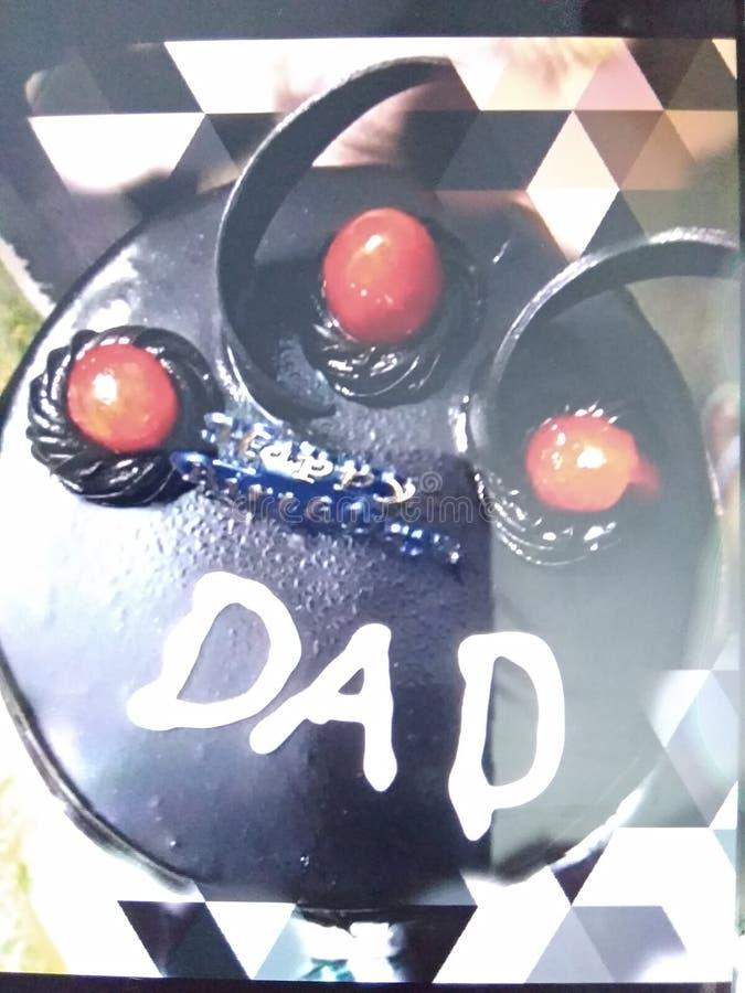 Dad& x27; dolce favorito di s con la ciliegia fotografia stock