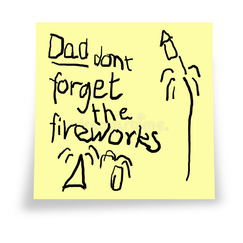 Download Dad. Don't Forget The Fireworks. Stock Photo - Image of celebration, post: 16412394