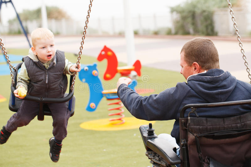 Dad play with child. royalty free stock images