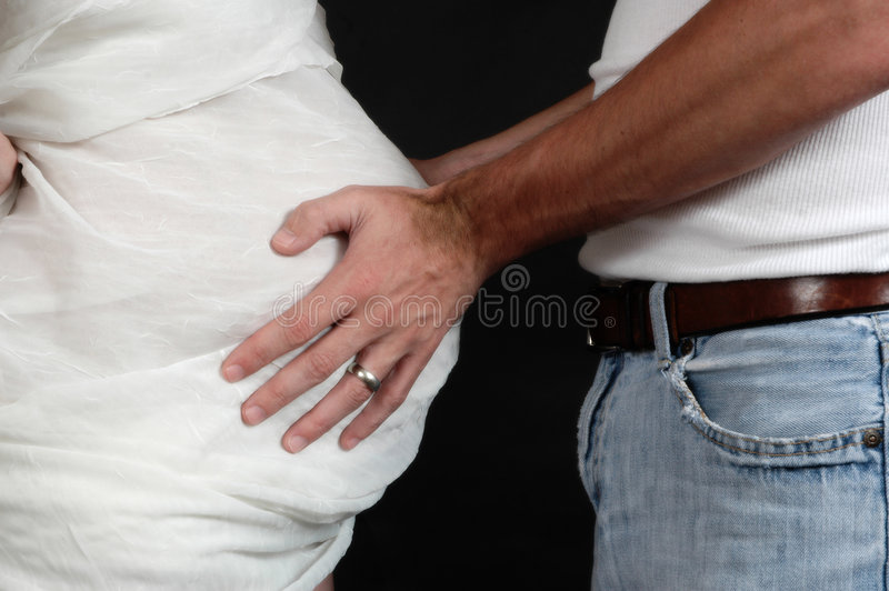 Dad's Hands royalty free stock image