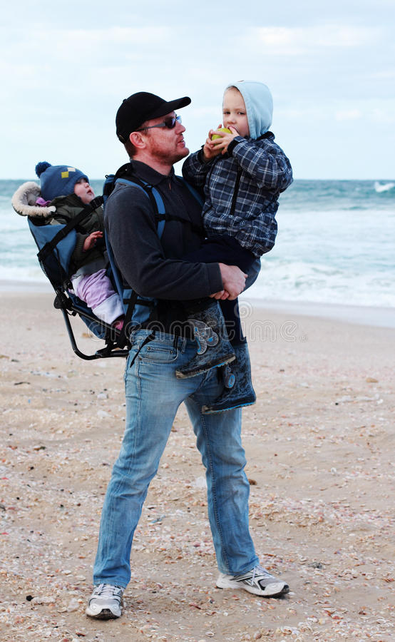 Free Dad, Son And Daughter Stock Images - 24389204