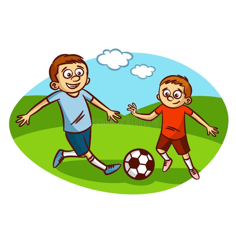 dad and son playing football stock vector illustration of game rh dreamstime com football game clipart black and white football game plan clipart