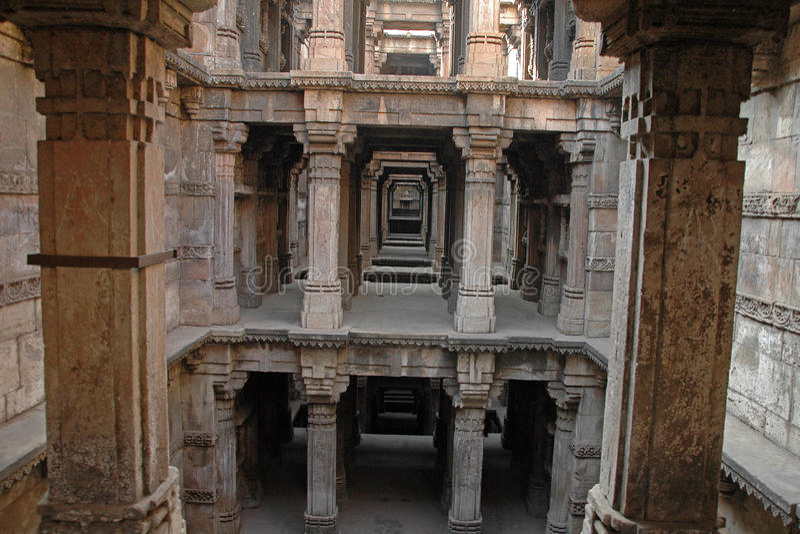 Dada Hari's Step well, Ahmedabad royalty free stock photos
