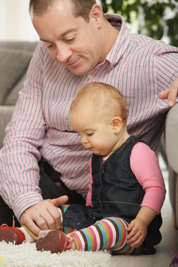 Daddy with baby girl royalty free stock photo