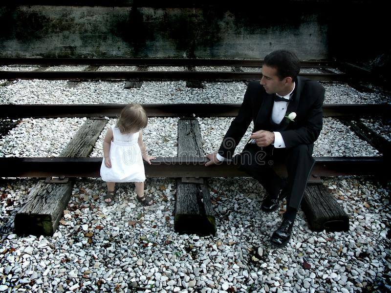 Daddy and daughter royalty free stock image