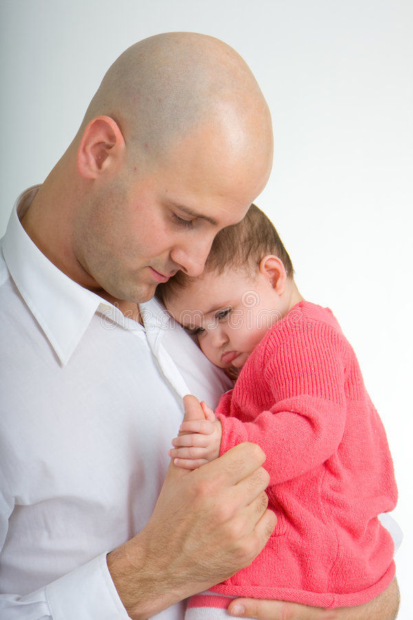 Daddy and Daughter 3 stock photography