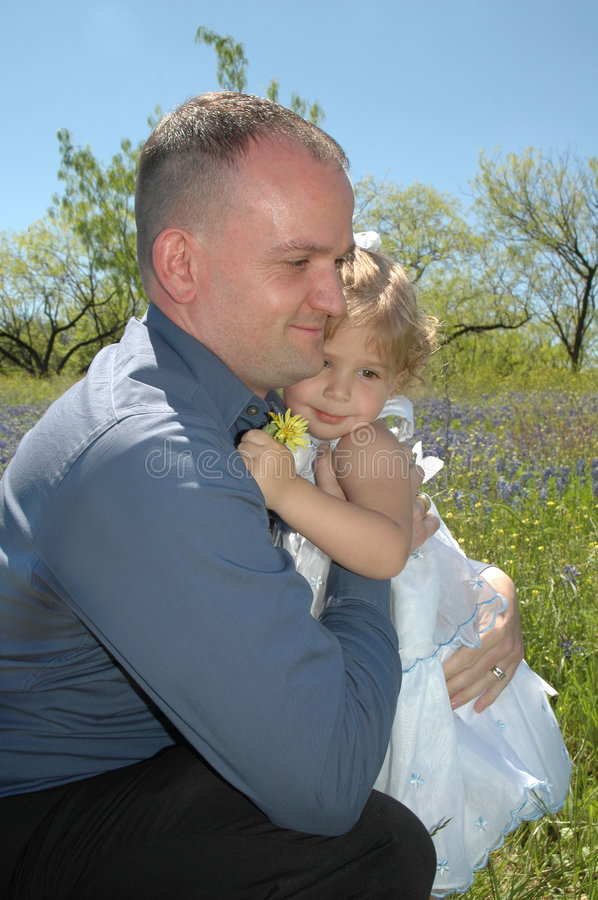 Daddy Hugs royalty free stock photography