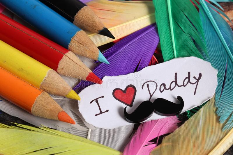 Daddy love stock image