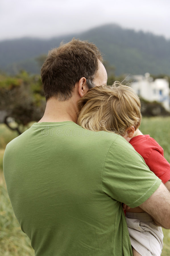 Download In Daddy's Arms stock image. Image of pain, hugging, daddy - 2016105