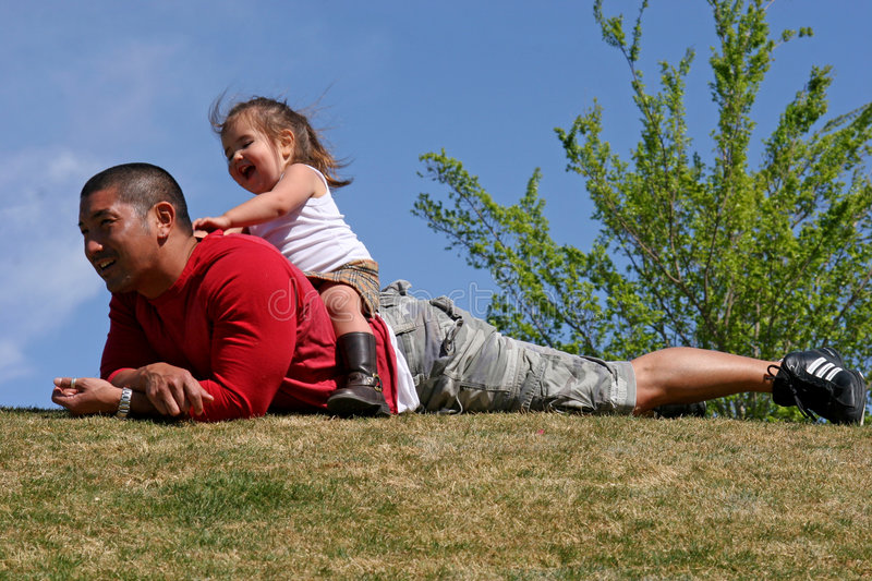 Daddy's Back royalty free stock images