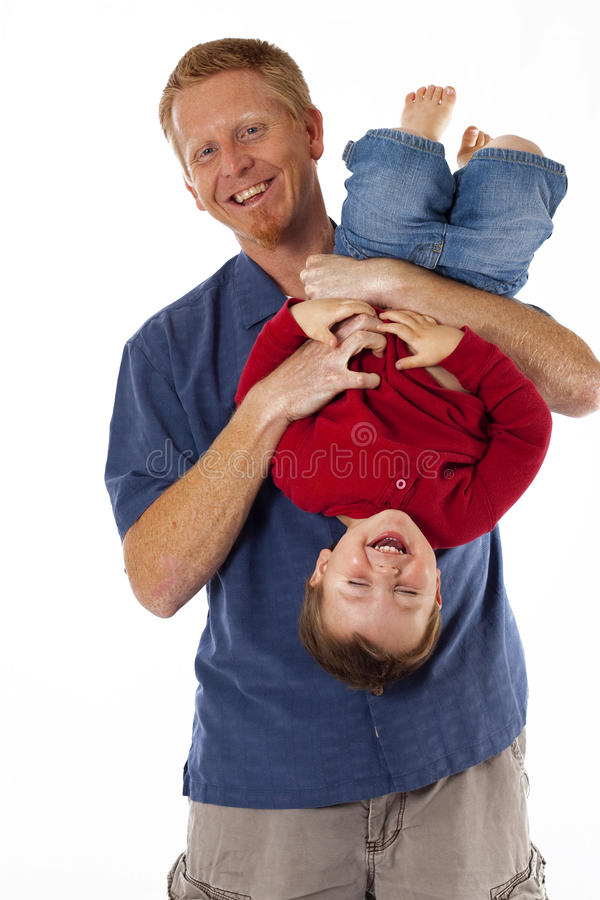 Daddy's a tickle monster royalty free stock photo